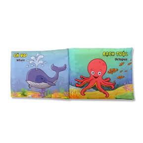 Sách vải PiPo chủ để SInh Vật Biển