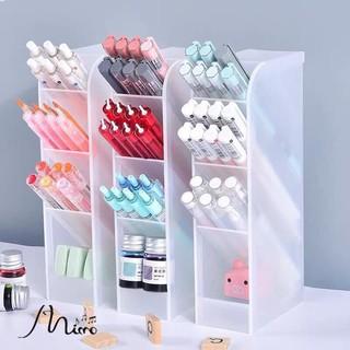 Kệ hộp đựng bút/ mỹ phẩm/ cọ trang điểm 4 tầng Ống đựng bút phân loại bút 6 màu tùy chọn