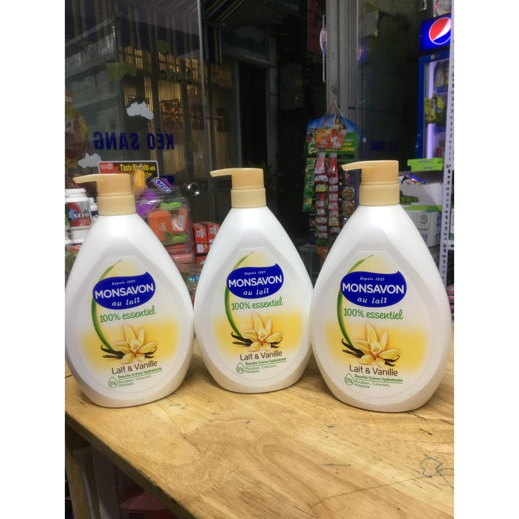 Sữa Tắm Monsavon Lait Essentiel Vanille 1000ml
