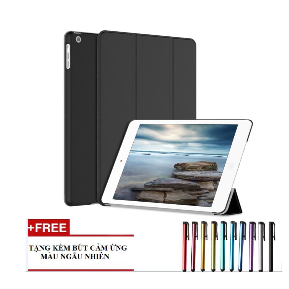 "Bao da iPad New 2017/iPad Pro 9.7""/iPad Air/iPad Air 2/iPad Mini123/iPad Mini4/ iPad 234 (đen) tặng bút cảm ứng"
