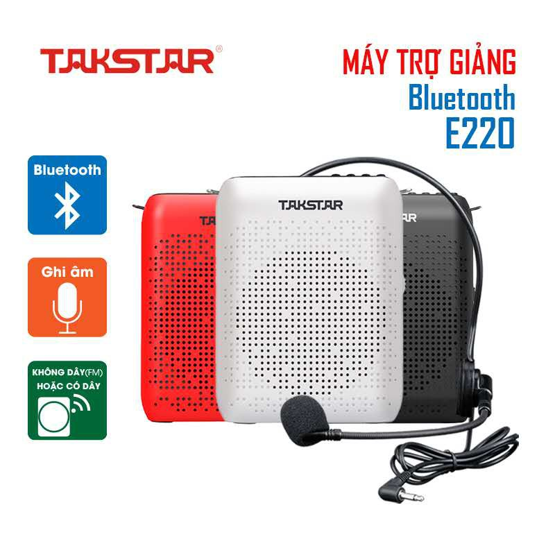 [CHINH HÃNG] Máy trợ giảng không dây, có dây TAKSTAR E220, kết nối Bluetooth, BẢO HÀNH 12 THÁNG