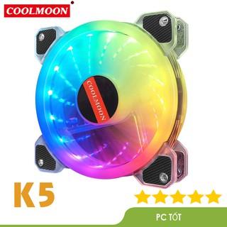Quạt Tản Nhiệt, Fan Case Coolmoon K5 dual ring led RGB - Sử dụng hub thumbnail