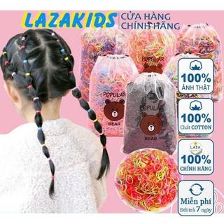 Túi Chun Buộc Tóc Bịch 4000 Chun Cho Bé Kèm Túi Gấu-Thun cột tóc bé gái thumbnail