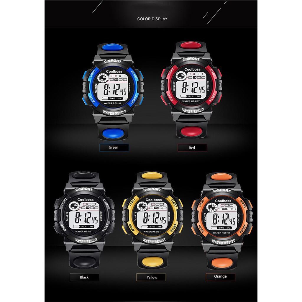 Đồng hồ nam thể thao điện tử COOLBOSS đủ màu phong thủy cực chất