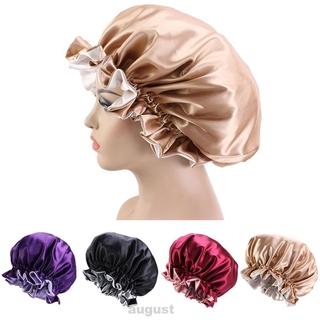 (Hàng Mới Về) Mũ Trùm Tóc Khi Tắm Màu Trơn Hai Lớp Chống Thấm Nước Có Thể Tái Sử Dụng Cho Nữ