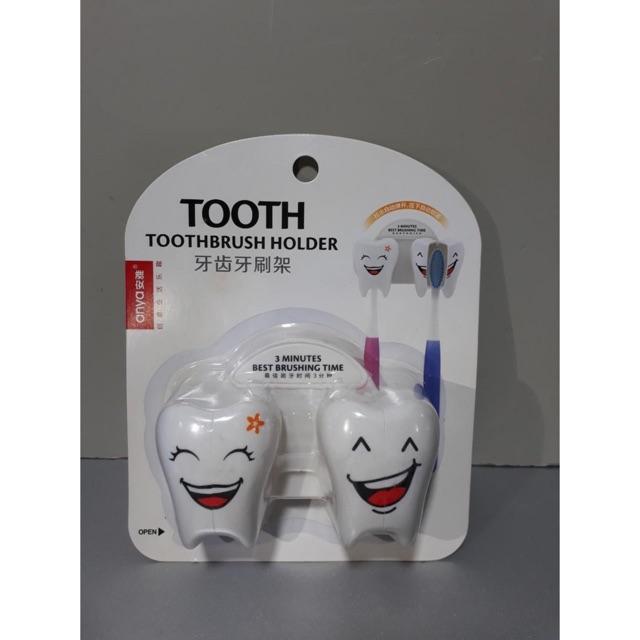 Cài bàn chải hình răng vỉ 1 cái và vỉ 2 cái và 3 cái hít tường đảm bảo siêu chắc