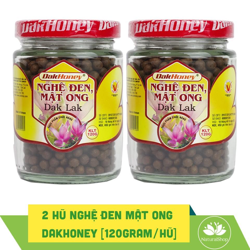 Bộ 02 hủ viên nghệ đen mật ong nguyên chất Dak Lak 120gram/hủ