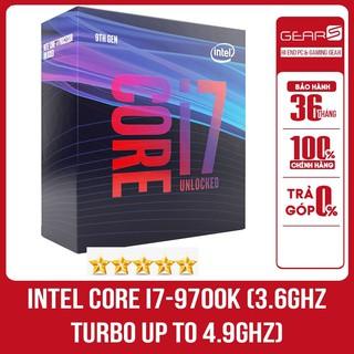 Bộ vi xử lý Intel Core i7-9700K (3.6GHz turbo up to 4.9GHz, 8 nhân 8 luồng, 12MB Cache, 95W) thumbnail