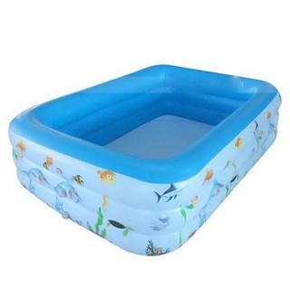Bể bơi phao 3 tầng cho bé loại 130cm x 85cm x 55cm