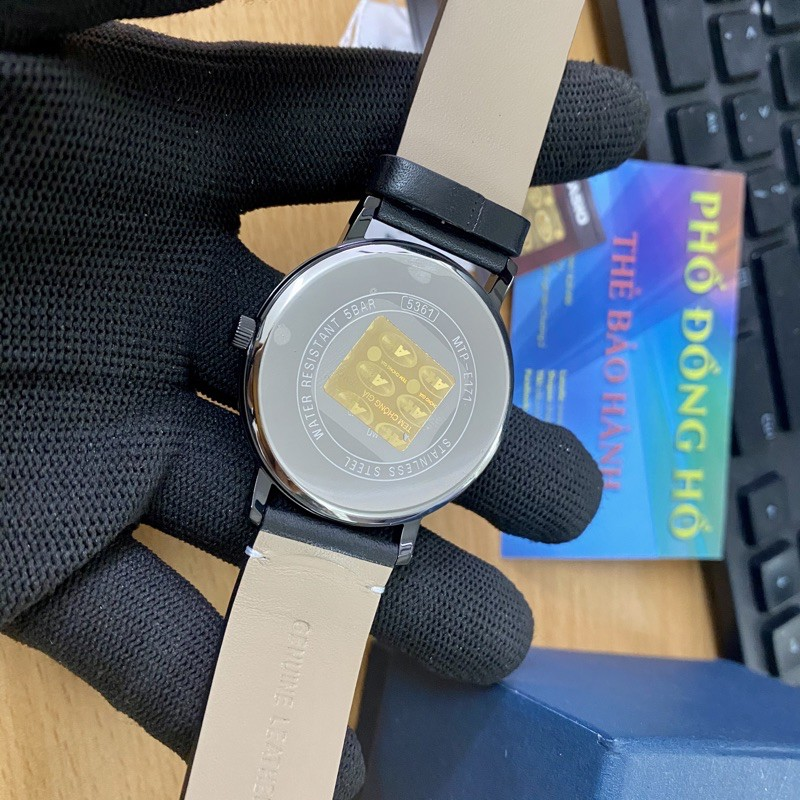 Đồng hồ nam dây da Casio Anh Khuê MTP-E171BL-1EVDF