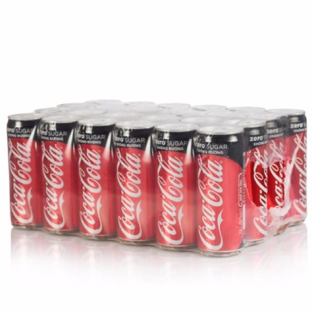 Thùng 24 lon Coca-Cola Zero 330ml