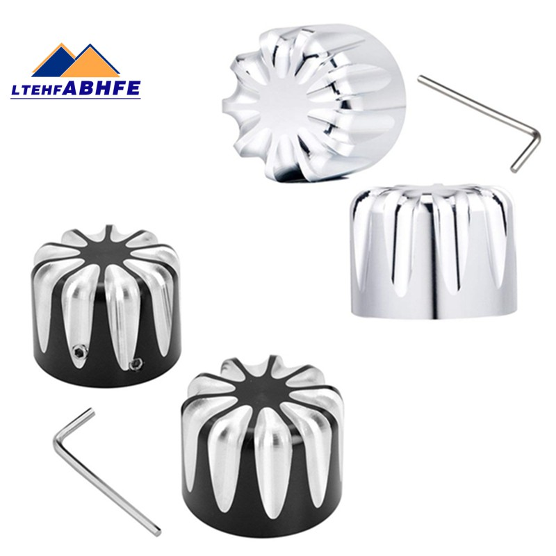 6ed8ebd256a0 1 Pair of Front Axle Nut Kit Cover Deep Cut For Harley Davidson Touring  Ultra Cl