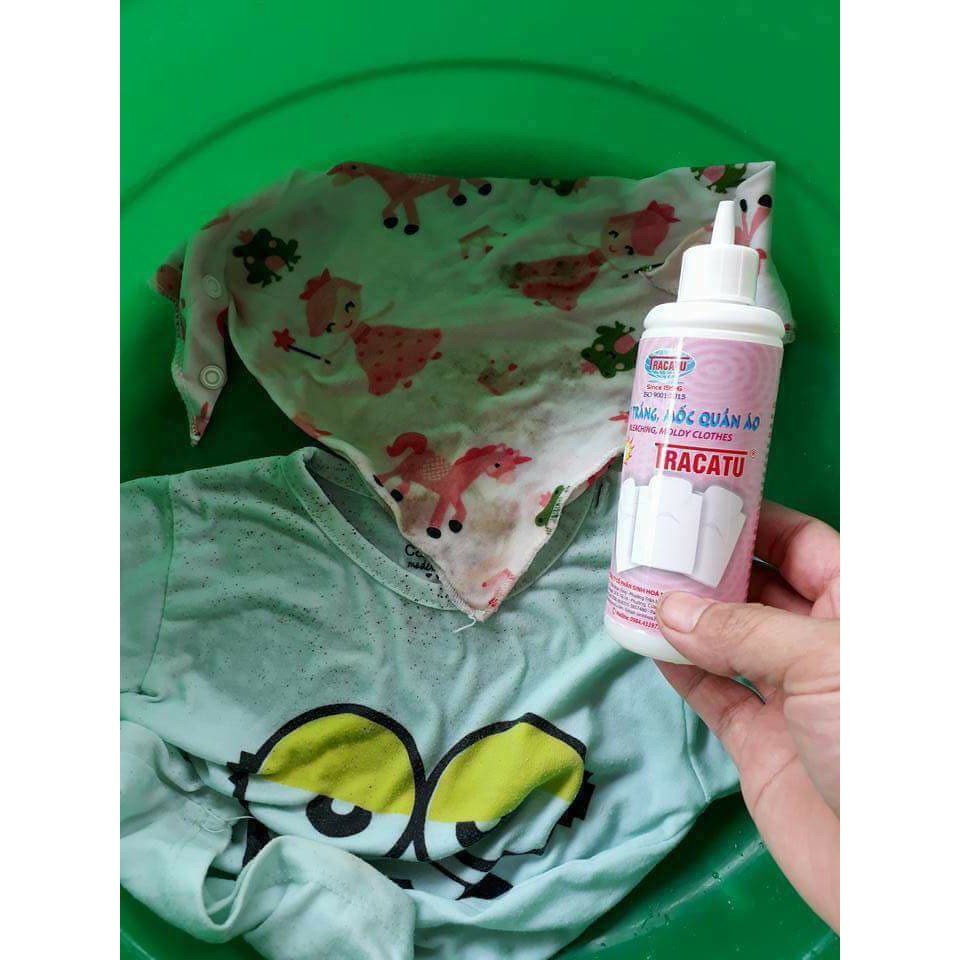 Lọ tẩy trắng tẩy mốc quần áo Tracatu 120 ml