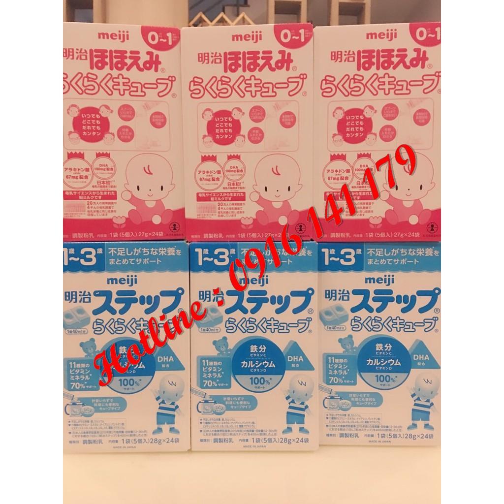 Sữa Meji 0-1 và 1-3 dạng thanh (hàng xách tay )