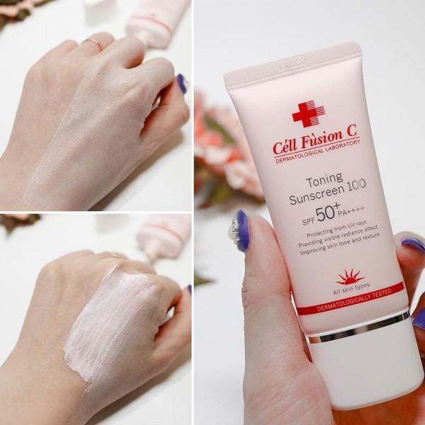Kem chống nắng nâng tone Cell Fusion C Toning Sunscreen 100 | Shopee Việt  Nam