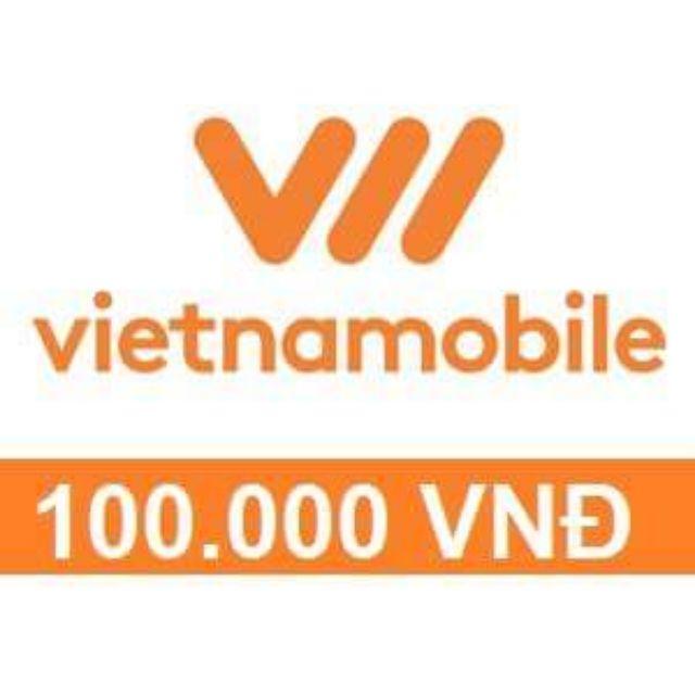 Nạp tiền VietNamMobile 100k (Hưởng khuyến mãi nhà mạng bình thường)