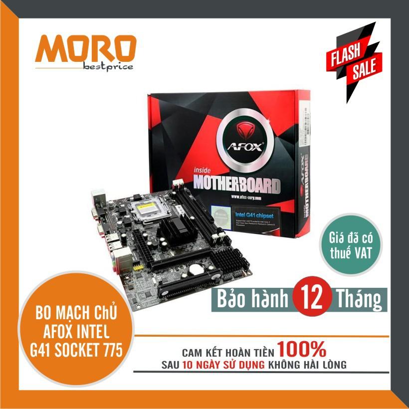 Bo mạch chủ AFOX Mainboard Intel G41 ( main G41 ) Chipset Socket 775 - 13773519 , 2001980434 , 322_2001980434 , 899000 , Bo-mach-chu-AFOX-Mainboard-Intel-G41-main-G41-Chipset-Socket-775-322_2001980434 , shopee.vn , Bo mạch chủ AFOX Mainboard Intel G41 ( main G41 ) Chipset Socket 775