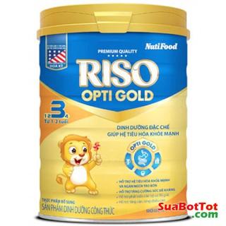 (HOÀN 10%) Sữa bột RISO OPTI GOLD NUTIFOOD số 3 900 date 2020 - HỖ TRỢ TIÊU HÓA TỐT thumbnail