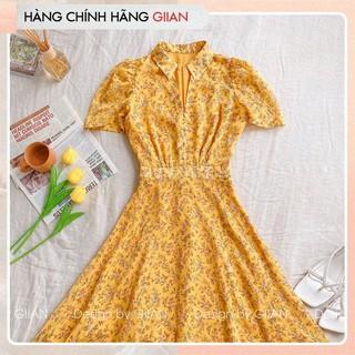 Giian - Váy hoa xòe cổ đức, Đầm maxi cổ sơ mi chất voan - Anne Dress - thiết kế chính hãng - V2262 thumbnail