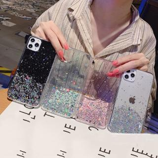 Ốp điện thoại trong suốt cát chảy lấp lánh cho OPPO Realme 7 C17 7i C15 C11 C2 C3 X3 6 5 Pro 6i 5i 5s X50 X2 Pro XT