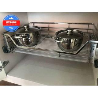 Giá Úp Xoong Nồi, Kệ Đa Năng Tủ Bếp Dưới INOX304 Nan Dẹt – Hàng Chính Hãng (Bảo Hành 10 năm)