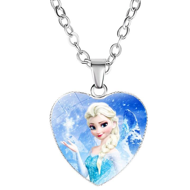 Dây chuyền Elsa bằng hợp kim hình trái tim cho bé gái BBShine – J034