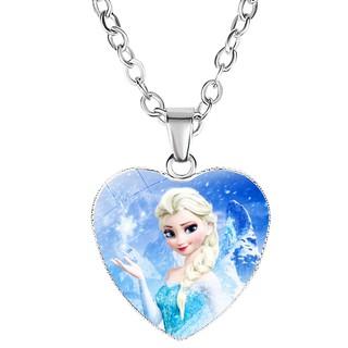 Dây chuyền Elsa bằng hợp kim hình trái tim cho bé gái BBShine J034 thumbnail