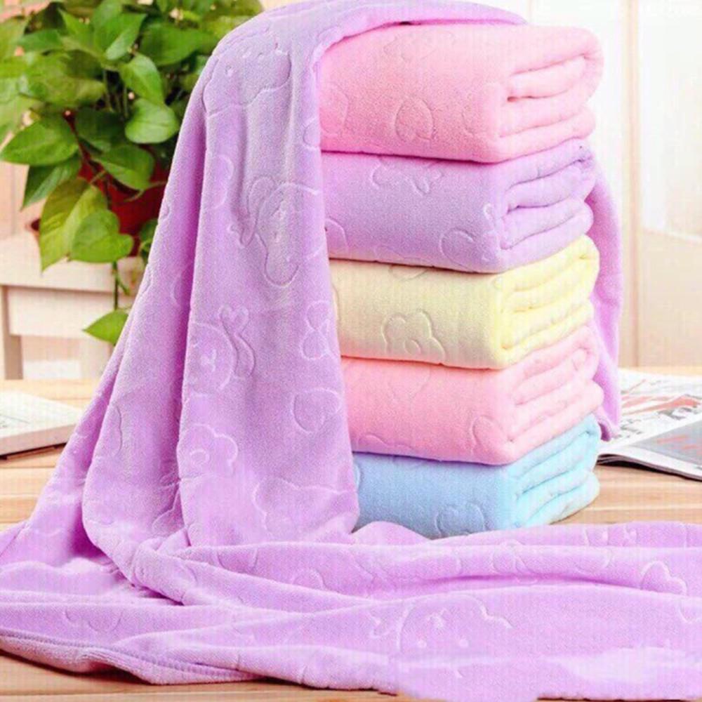 Khăn tắm lớn xuất Nhật siêu mềm mịn, khăn tắm cao cấp size lớn 70x140cm thấm hút tốt nhanh khô