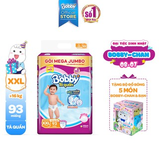 Hình ảnh [Tặng 1 Bobby's Friend Box] Tã quần Bobby siêu thoáng bịch Mega Jumbo M120/L111/XL102/XXL93-5