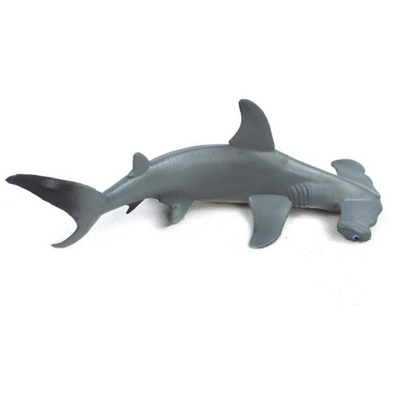 18cm Hammerhead Shark Realistic Sea Animal Figure Solid Plastic Toy Model new