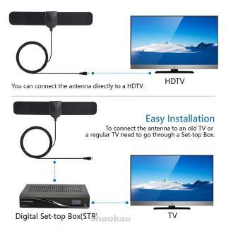 TV Antenna Indoor DVB-T2 ATSC Amplifier Digital VHF-H/UHF