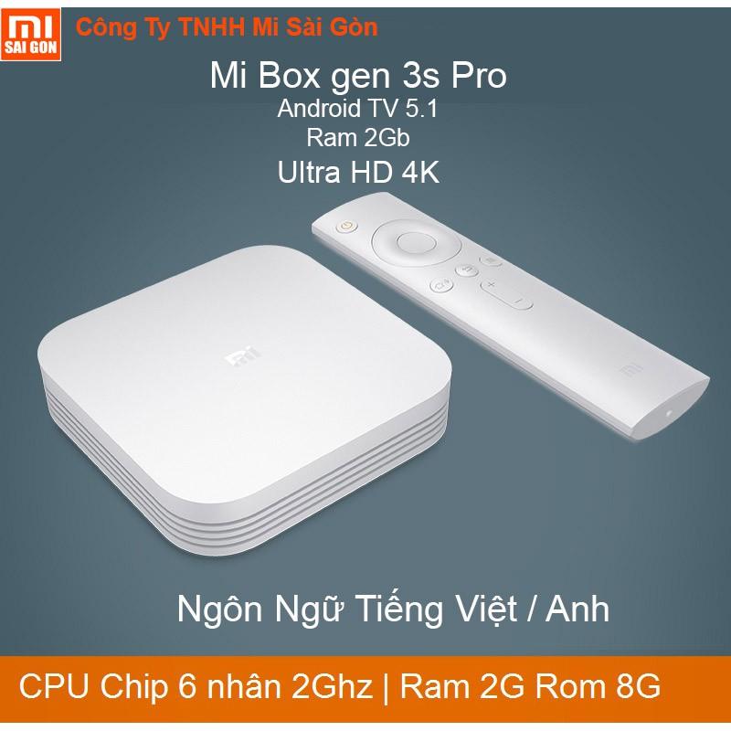Android TV Box Xiaomi Mibox 3s Pro Tiếng Việt và GooglePlay 2G/8G - 3461887 , 1087369467 , 322_1087369467 , 1349000 , Android-TV-Box-Xiaomi-Mibox-3s-Pro-Tieng-Viet-va-GooglePlay-2G-8G-322_1087369467 , shopee.vn , Android TV Box Xiaomi Mibox 3s Pro Tiếng Việt và GooglePlay 2G/8G