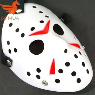 Mặt nạ Jason hóa trang Halloween leegoal Màu Trắng Lỗ tròn-H166 _hàng bao đẹp