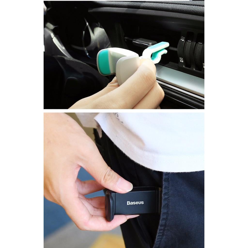 [Mã ELFLASH5 giảm 20K đơn 50K] [Kẹp cửa gió] Giá đỡ điện thoại trên ô-tô nhỏ gọn Baseus Stable Series Car Mount Holder