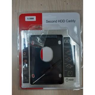 HDD Caddy 2.5 sata 12.7 mm/9.5 mm chuyển ổ CD laptop ra hdd (nhôm)