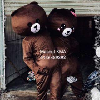 [Hàng có sẵn full kho] Mascot Gấu Brown + Thỏ Cony- Tặng kèm áo làm mát