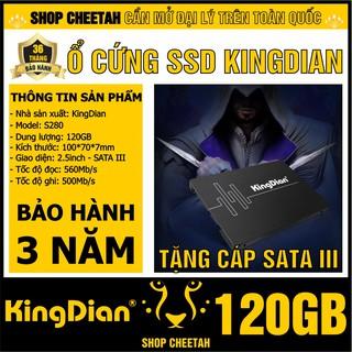 Ổ cứng SSD KingDian 120GB Sata3 S280 – CHÍNH HÃNG – Bảo hành 3 năm – SSD 120GB – Tặng cáp dữ liệu Sata 3.0