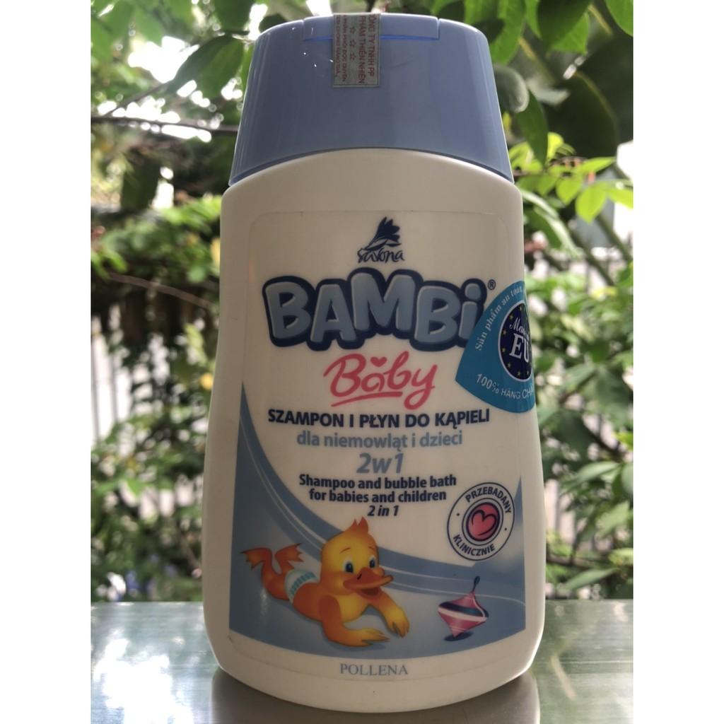 Sữa Tắm Gội Bambi Dành Cho Trẻ Sơ Sinh Và Trẻ Nhỏ 2 in 1 300ml