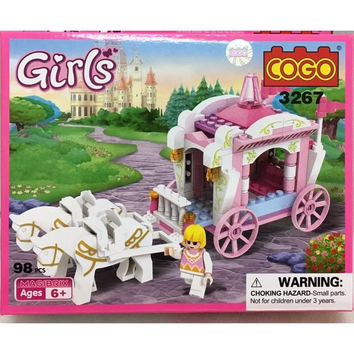 HỘP LEGO LẮP RÁP XE NGỰA DIỄU HÀNH CÔNG CHÚA