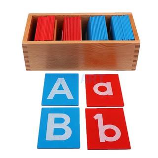 [HOT HA] Bộ chữ cái nhám – #Giáo cụ Montessori