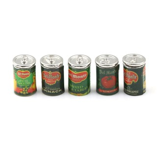 MT Mini Fruit Canned Dollhouse Miniature Food Kitchen Doll Accessories Xmas Gift NY