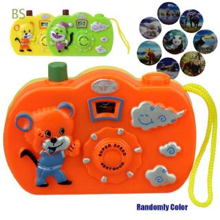 BS Random Color 2018 New Kids Children plastic Learning Educational Christmas Light Projection Camera
