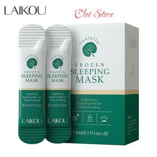 Mặt nạ ngủ Laikou Frozen Sleeping Mask chiết xuất từ rau má, gói 3ml hàng nội địa Trung