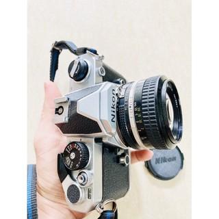 Máy ảnh chụp film Nikon FM + Lens Nikon 50mm f1.4 đời AI