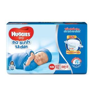 Tã dán sơ sinh Huggies mới 58 miếng NB58 (Cho bé dưới 5kg)[ Giá tốt] thumbnail
