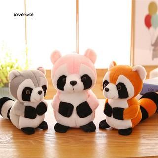 ღLOVEღLovely Plush Stuffed Raccoon Doll Soft Throw Pillow Sofa Bed Decor Kids Toy