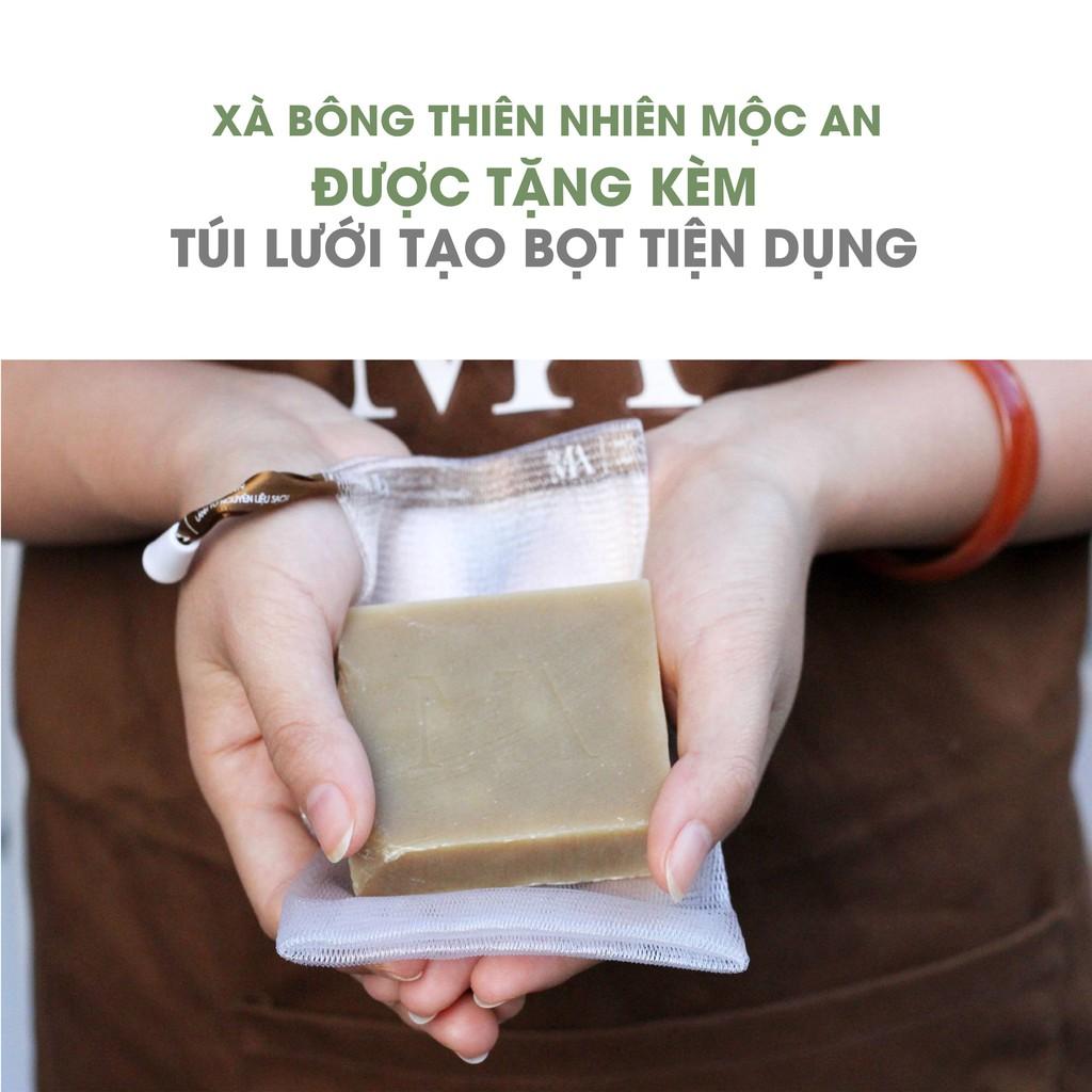 Xà Bông Thiên Nhiên Mộc An Khổ Qua Chăm Sóc Face & Body- Giảm Mụn, Rôm Sảy Handmade 100g