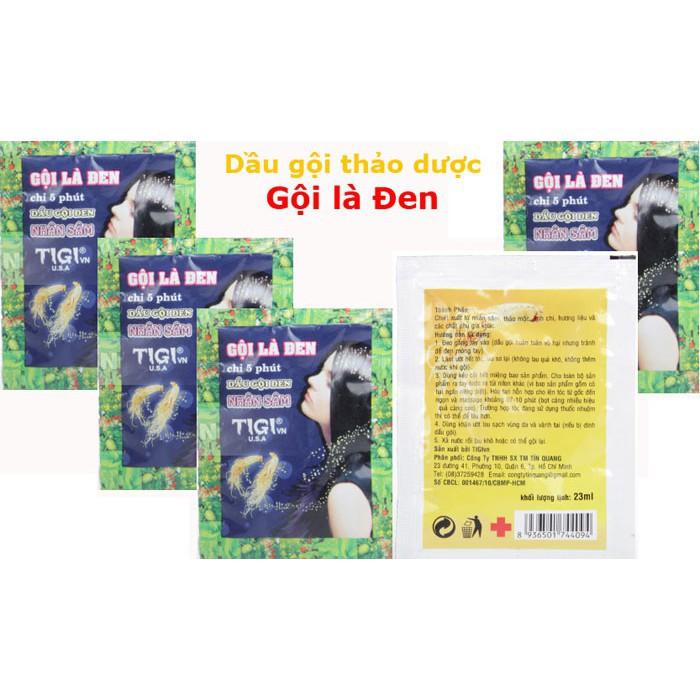 Combo 10 gói dầu gội đầu Gội là đen Nhân sâm Tigi 30ml (Chỉ 5 phút) - 21729161 , 1476789081 , 322_1476789081 , 100000 , Combo-10-goi-dau-goi-dau-Goi-la-den-Nhan-sam-Tigi-30ml-Chi-5-phut-322_1476789081 , shopee.vn , Combo 10 gói dầu gội đầu Gội là đen Nhân sâm Tigi 30ml (Chỉ 5 phút)