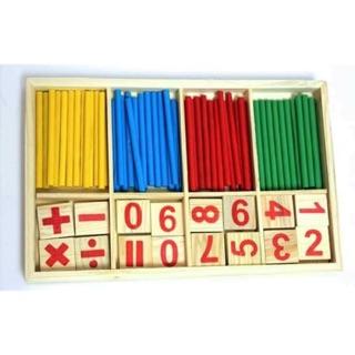 Bộ que tính học toán bằng gỗ cho bé