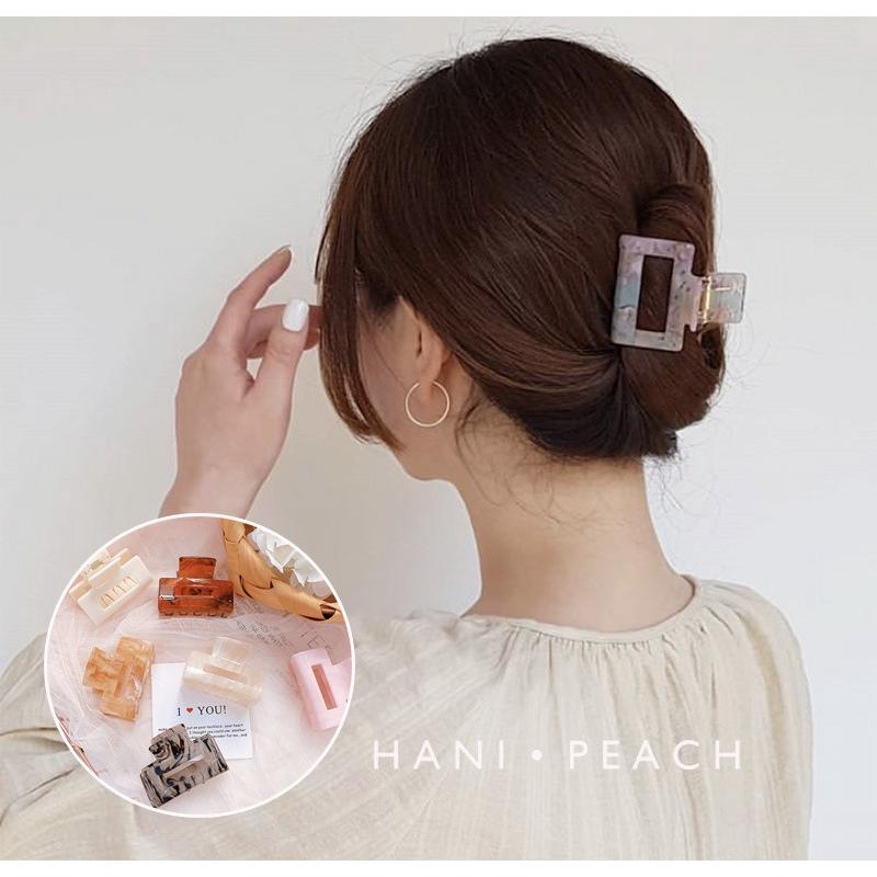 Kẹp tóc hình vuông phong cách retro pháp đơn giản xinh xắn